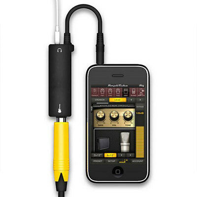 Rig Guitar Audio Interface AMP Amplifier Convertor Adapter Cable iPhone iPad