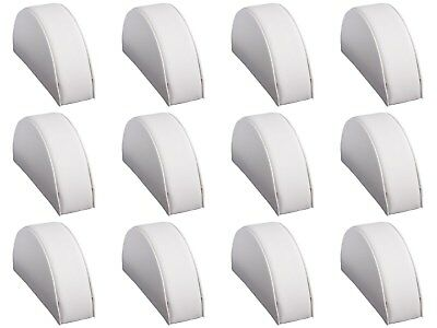 Wholesale Lot 12 Pieces White Leatherette Half Moon Small Jewelry Display Ramps