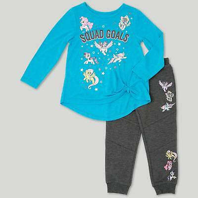 Toddler Girls' My Little Pony Top And Bottom Set - Turquoise Heather