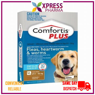 Comfortis Plus Very Large Dog Flea Allwormer 27.1 to 54 kgs Chews Wormer XPRESS