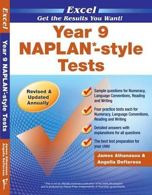 NEW NAPLAN-style Tests : Year 9 By Excel Paperback Free Shipping