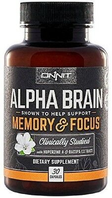 Onnit Labs Alpha Brain Memory & Focus 30 Capsules FRESH! Exp 04/2021-SHIPS TODAY