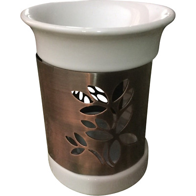 NEW Oil burner White/Copper cut out Bali Gifts