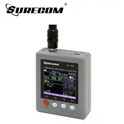 Sucrecom SF-103 Frequency Counter 2MHz~2.8GHz CTCSS/DCS Decoder DMR Radio Tester