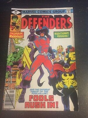 Defenders#74 Awesome Condition 7.0(1979) Foolkiller Appearence!!