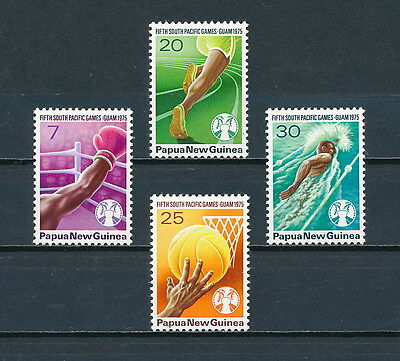 Papua New Guinea  419-22 MNH, South Pacific Games, 1975