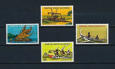 Papua New Guinea  406-9 MNH, Traditional Canoes, 1975