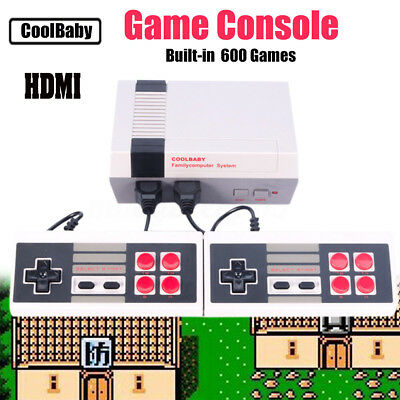 Classic TV Video Game Console With 600 Games HDMI 2 Controllers for NES Gaming