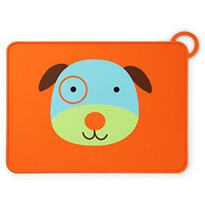 Skip Hop Zoo Fold & Go Silicone Placemat Dog - placemats (Rectangle, Blue, Brown