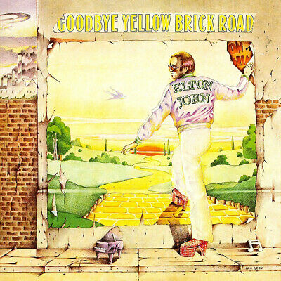 Elton John Goodbye Yellow Brick Road LP Cover Sticker or Magnet