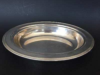 Antique Sheffield Solid Silver Deep Serving Tray Made In Usa