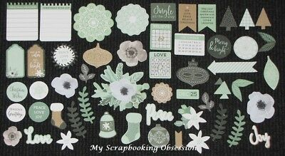 Kaisercraft 'MINT WISHES' Collectables Die Cut Shapes Christmas/Pine KAISER