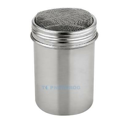 Stainless Chocolate Shaker Cocoa Flour Icing Sugar Powder Coffee Sifter Lid TN2F