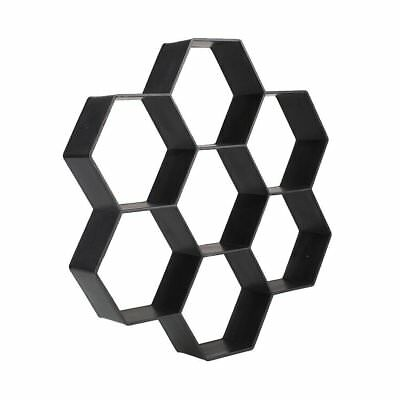 Black Hexagon Driveway Paving Pavement Stone Mold Stepping Pathmate Mould Paver