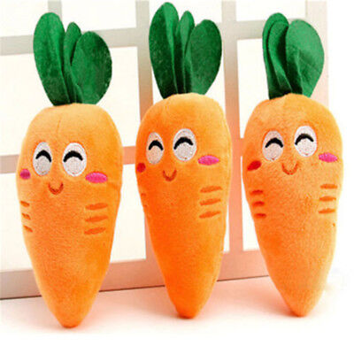 Cute Puppy Pet Supplies Carrot Plush Chew Squeaker Sound Squeaky Soft Dog Toys
