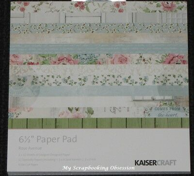 "Kaisercraft 'ROSE AVENUE' 6.5"" Paper Pad Floral/Flowers/Shabby Chic KAISER"