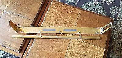 Antique Brass Parallel Ruler Sight Tool Nautical R.E.-Co. MK ii