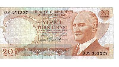Turkey, 20 Lira, L. 1970