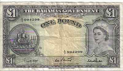 Bahamas, 1 Pound, Qeii, Nd(1953)