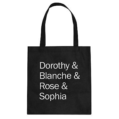 Tote Golden Names Canvas Shopping Bag #3478
