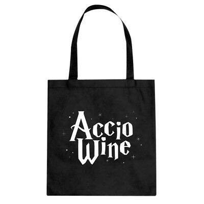 Tote Accio Wine Canvas Shopping Bag #3488