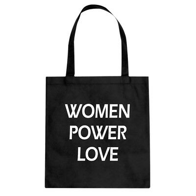 Tote Women Power Love  Canvas Shopping Bag #3489