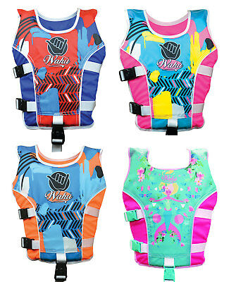 Wahu Swim Vest Medium Red Orange Pink Blue Swimming Pool Float