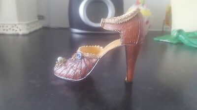 Vintage victorian detailed replica ornament shoe by just the right shoe free p+p