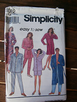 Oop Simplicity 8082 unisex pajamas robes nightshirt sizes XS-MD NEW