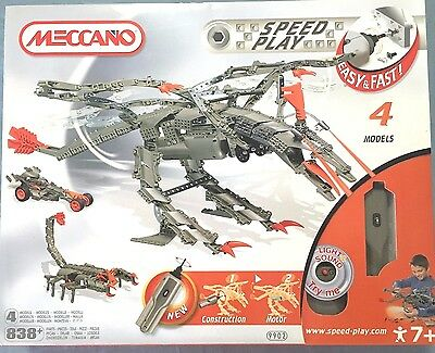 Meccano Speed Play 9902 838+ Pieces 4 Models New