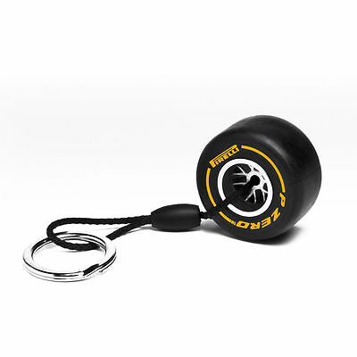Pirelli Tyre Key Ring Yellow F1 Gift - New - Rrp - £11.95 - Free Uk Shipping