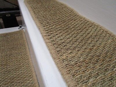 6 Handmade sisal bronze gold stair pads/treads Crucial Trading 60cm x 20cm