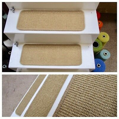 3Handmade sisal bronze gold/natural stair pads treads Crucial Trading 54cm wide