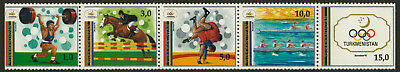 Turkmenistan 22 MNH Olympic Sports, Horse (Folded)