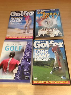 Golf Themed Joblot of  4 DVD,s  - Watched Once!
