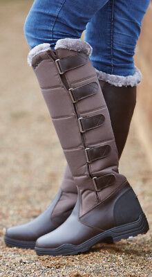 Brogini Forte winter Long Boots warm yard riding walking country casual Charcoal