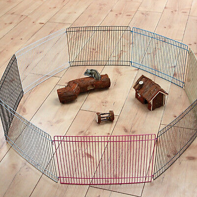 Pet Cage Barrier Fence Metal Enclosure Hamster Guinea Pig Rabbit Indoor Free Run