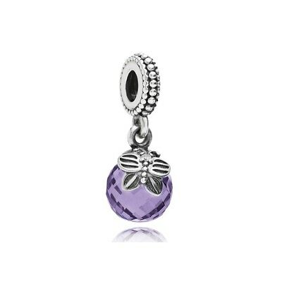 Authentic PANDORA MORNING BUTTERFLY PURPLE CLEAR Dangle Charm 791258ACZ ALE