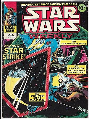 Marvel Comic - Star Wars Weekly - #9 - 5th April 1978