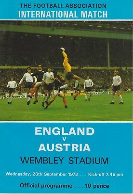 England V Austria ~ 26 September 1973 (1)