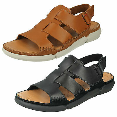 f57c6c7e8fb8 Mens Clarks Leather Ripatpe Summer Fisherman Sandals Beach Shoes Trisand Bay