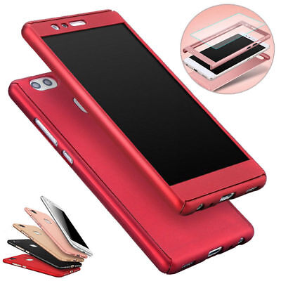 Hybrid Cover Case+Temper Glass Screen Protector For Huawei Honor 8 P9 P10