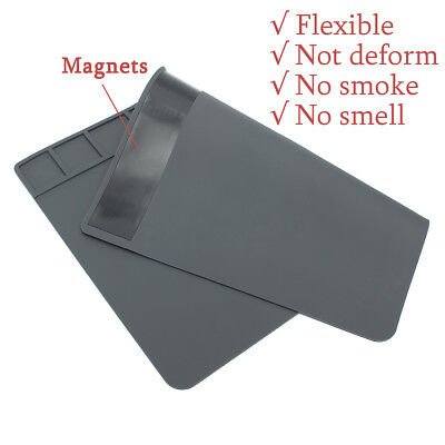 Anti Static Heat Insulation Silicone Pad Desk Mat Soldering Repair With Magnetic