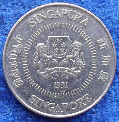"SINGAPORE - 10 cents 1991 ""star jasmine plant"" KM# 51 - Edelweiss Coins"