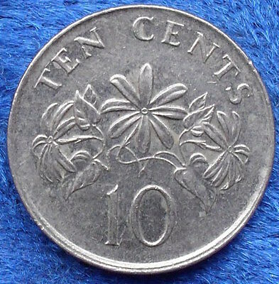 "SINGAPORE - 10 cents 2005 ""star jasmine plant"" KM# 100 - Edelweiss Coins"