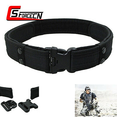 """2"""" Outdoor Airsoft Tactical Security Police SWAT Utility Nylon Duty Belt Black"""