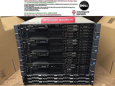 Dell R710 48-Core 256GB Dell PowerVault MD3200 7.2TB 15K SAS SAN Configuration