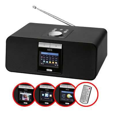 AEG IR 4468 BT INTERNET-STEREORADIO  über WLAN Bluetooth MP3 schwarz