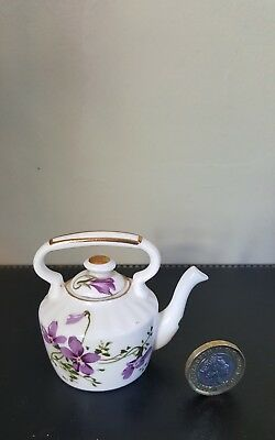 Hammersley Miniature Victorian Violets  Old Fashioned Miniature Kettle