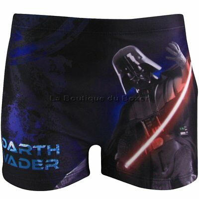 STAR WARS Boxer Bain Moulant Garçon DARTH VADER Noir